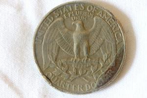 1990-D Washington Quarter with Errors Reverse