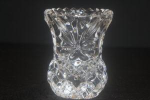 crystal toothpick holder / mini flower vase